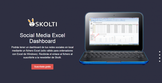 Skolti Social Media Excel Dashboard